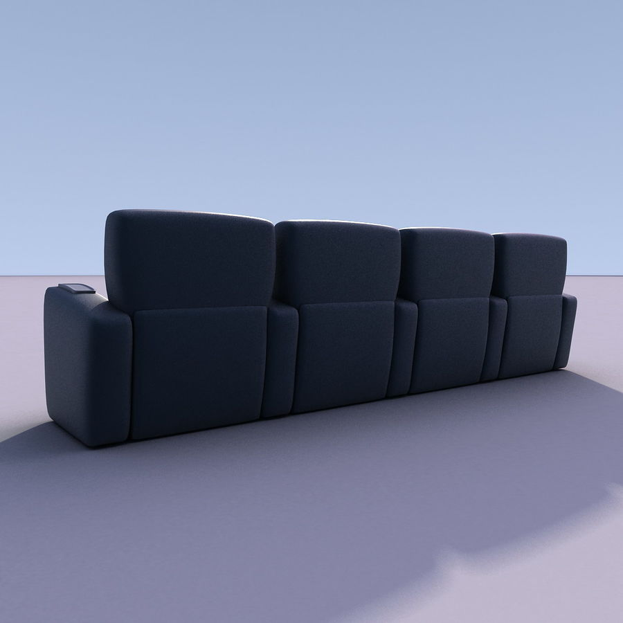 Armchair 008 royalty-free 3d model - Preview no. 5
