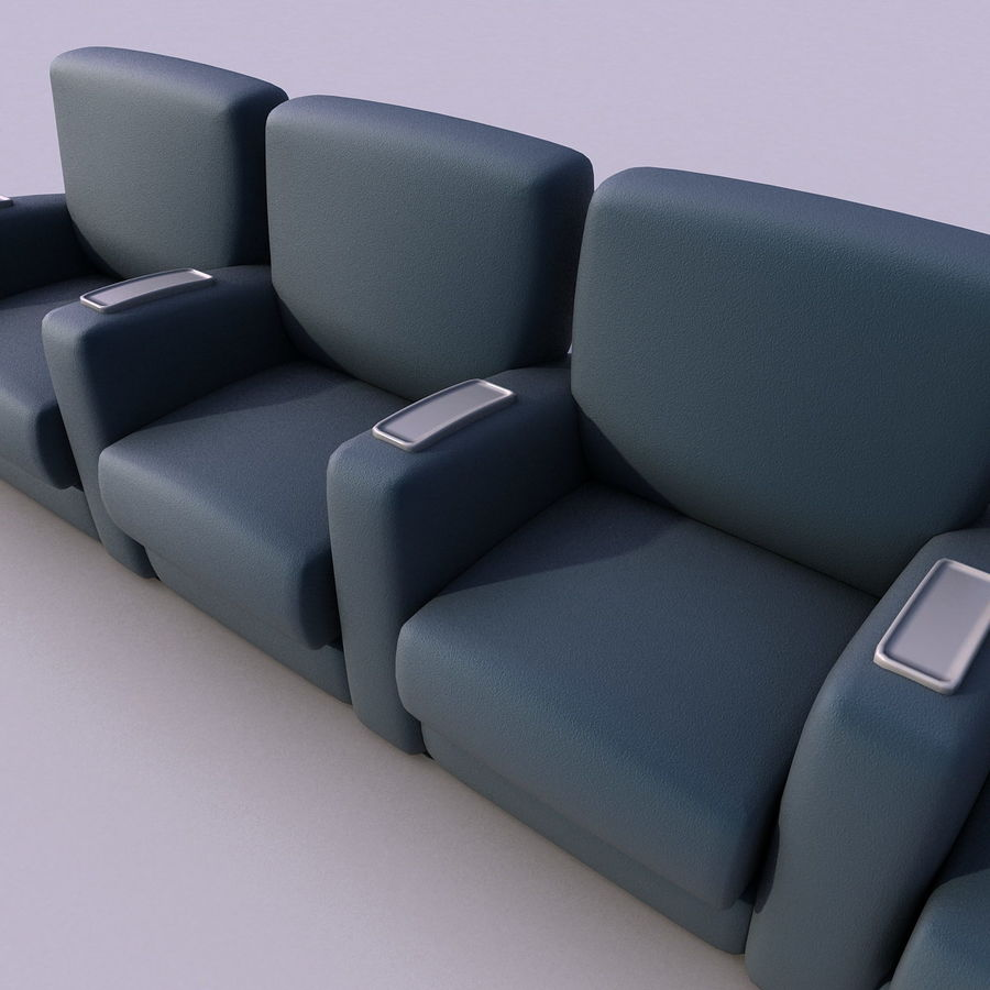 Armchair 008 royalty-free 3d model - Preview no. 3