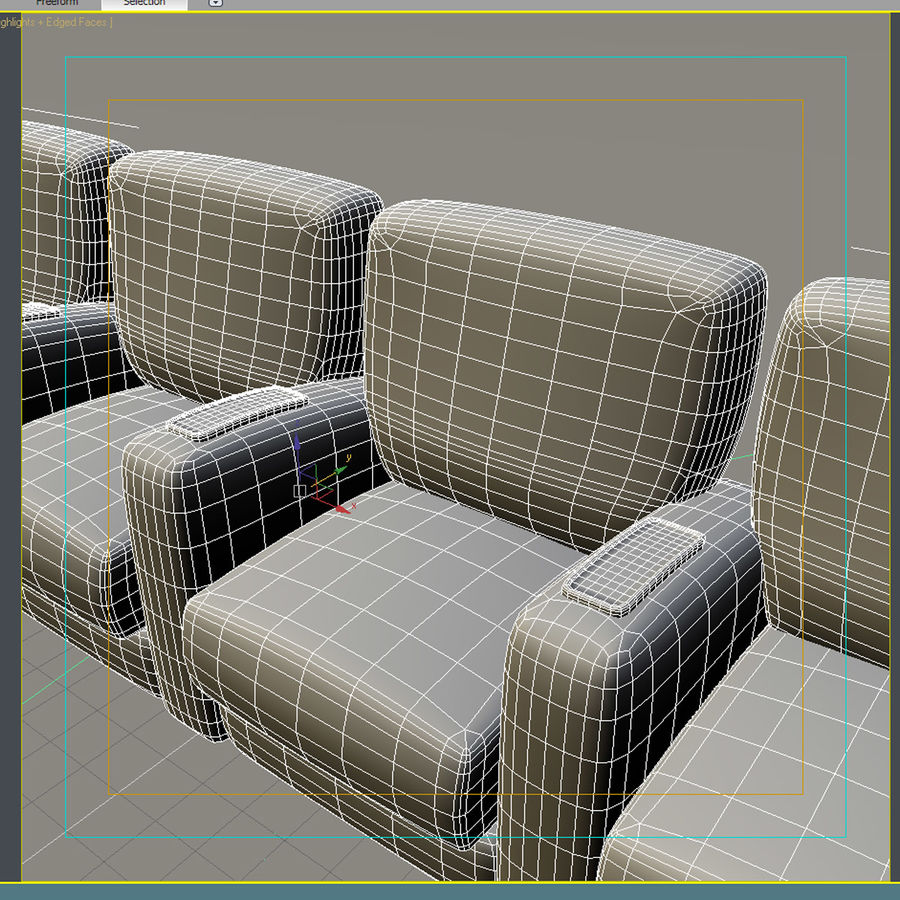 Armchair 008 royalty-free 3d model - Preview no. 8