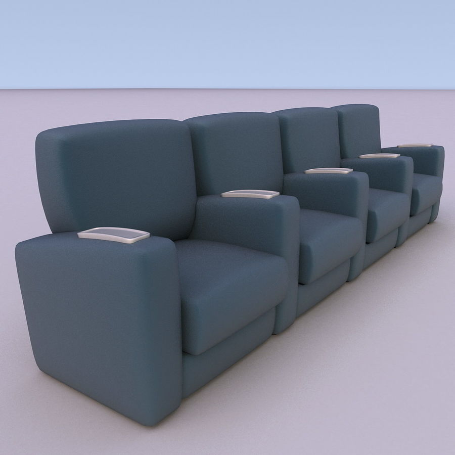 Armchair 008 royalty-free 3d model - Preview no. 2