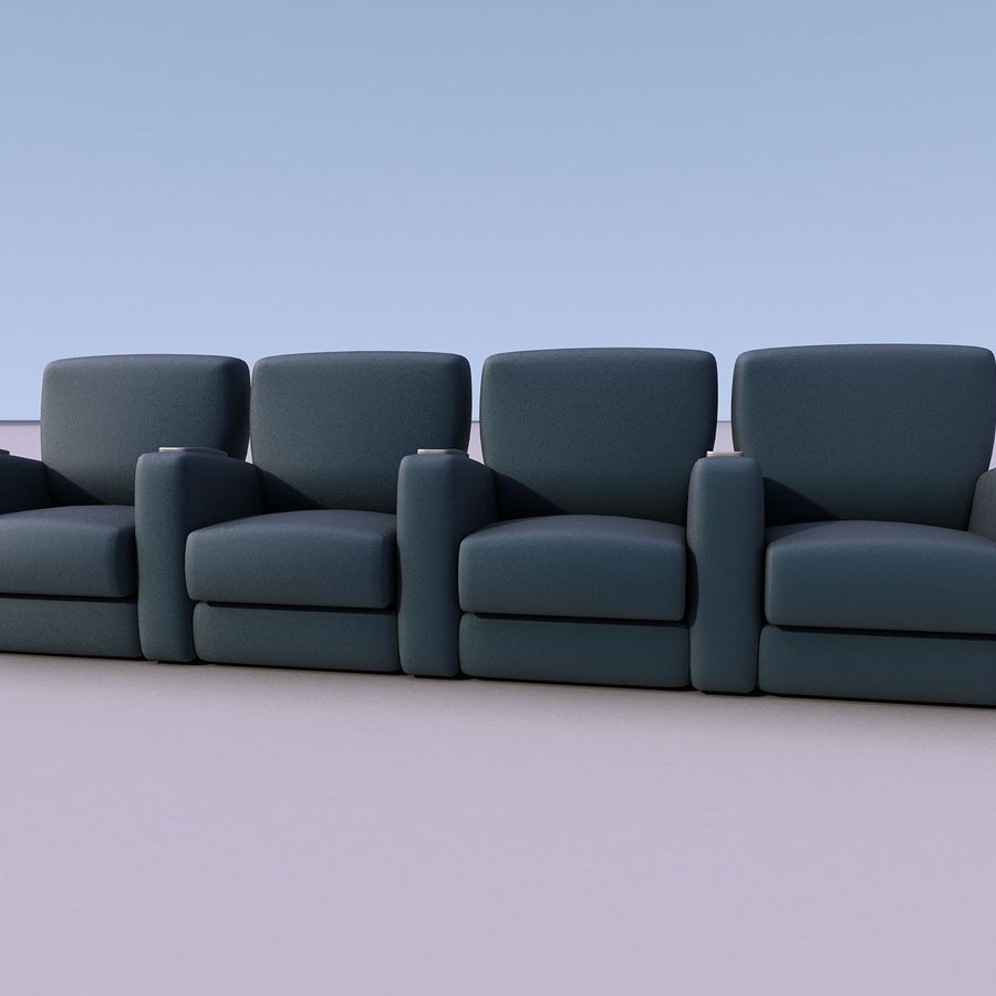 Armchair 008 royalty-free 3d model - Preview no. 6