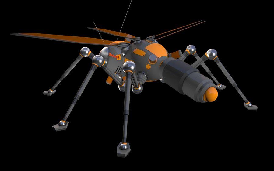 robotik böcek royalty-free 3d model - Preview no. 4
