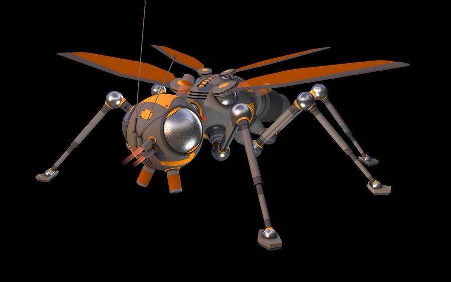 robotik böcek royalty-free 3d model - Preview no. 5