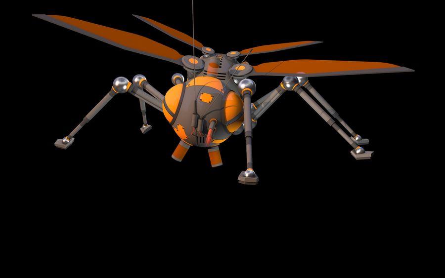 robotik böcek royalty-free 3d model - Preview no. 6