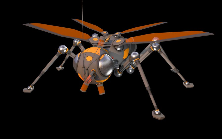 robotik böcek royalty-free 3d model - Preview no. 2