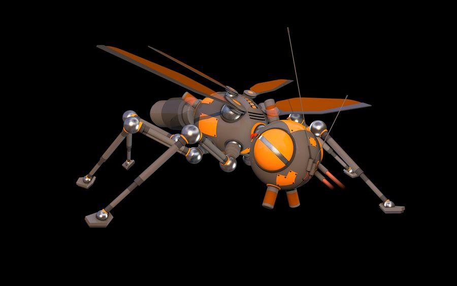 robotik böcek royalty-free 3d model - Preview no. 7