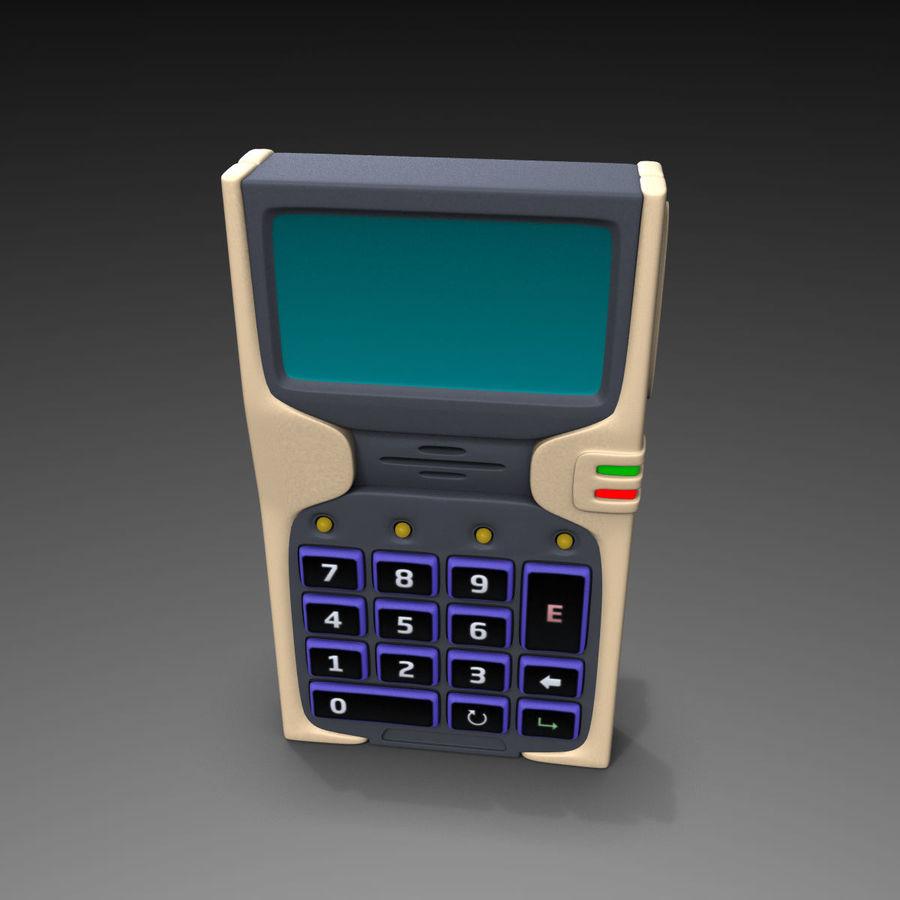 带键盘的安全卡读卡器 royalty-free 3d model - Preview no. 3