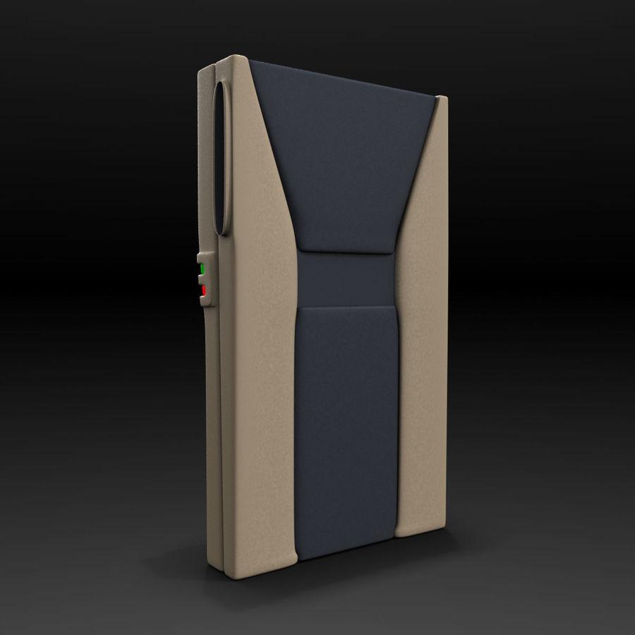 带键盘的安全卡读卡器 royalty-free 3d model - Preview no. 4