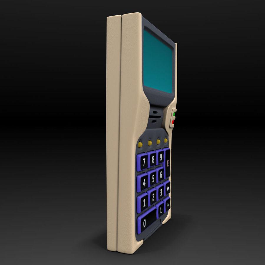 带键盘的安全卡读卡器 royalty-free 3d model - Preview no. 5