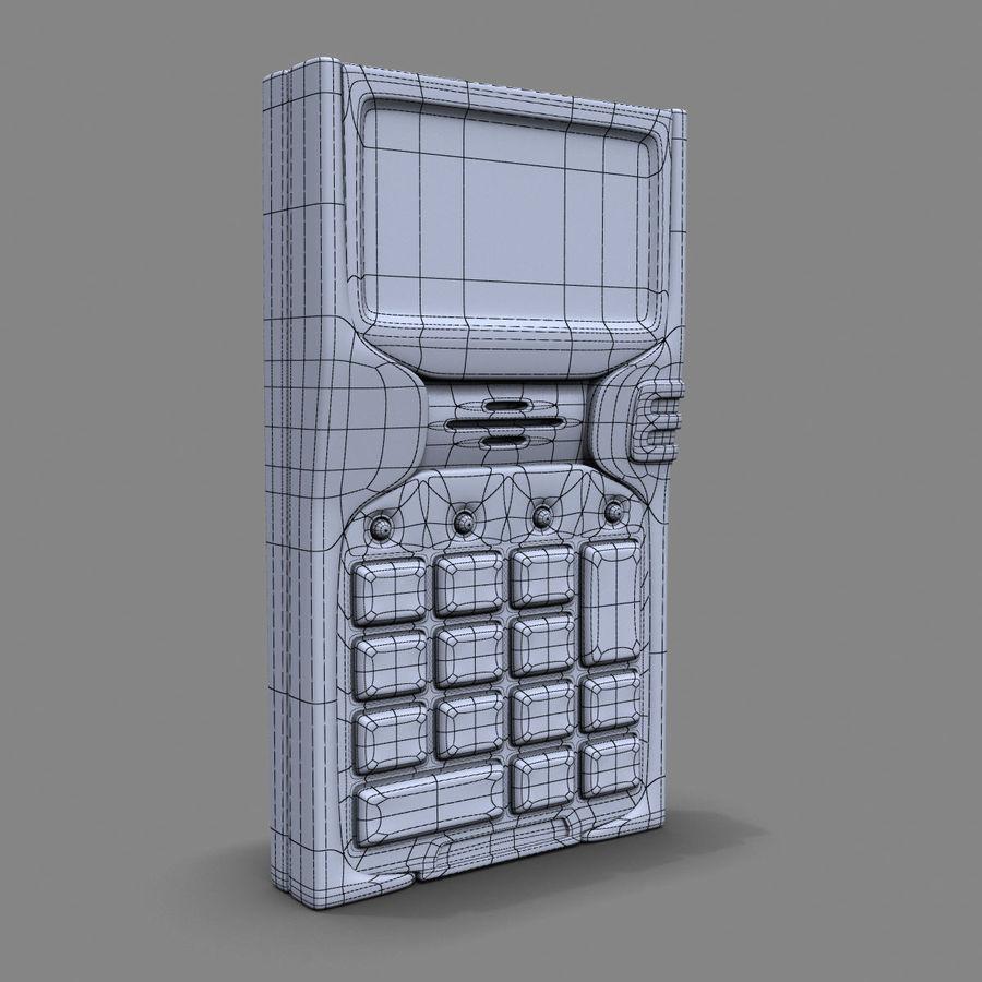 带键盘的安全卡读卡器 royalty-free 3d model - Preview no. 6
