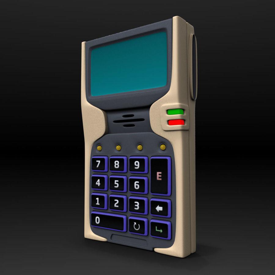 带键盘的安全卡读卡器 royalty-free 3d model - Preview no. 1