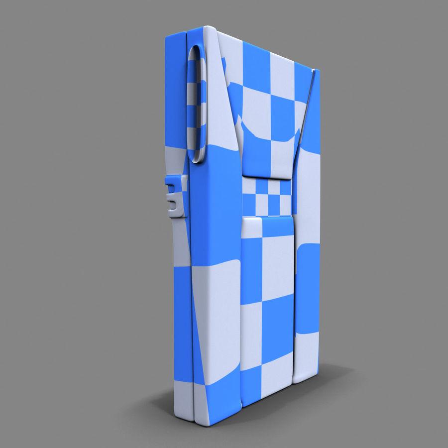 带键盘的安全卡读卡器 royalty-free 3d model - Preview no. 11
