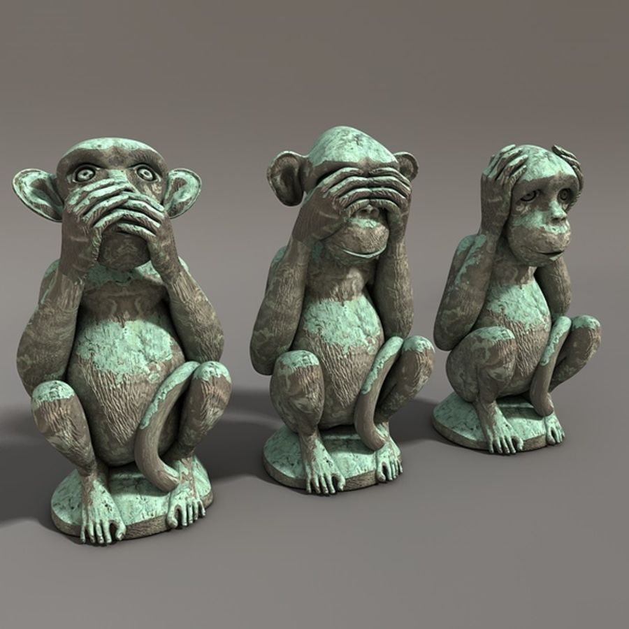 Singes royalty-free 3d model - Preview no. 1