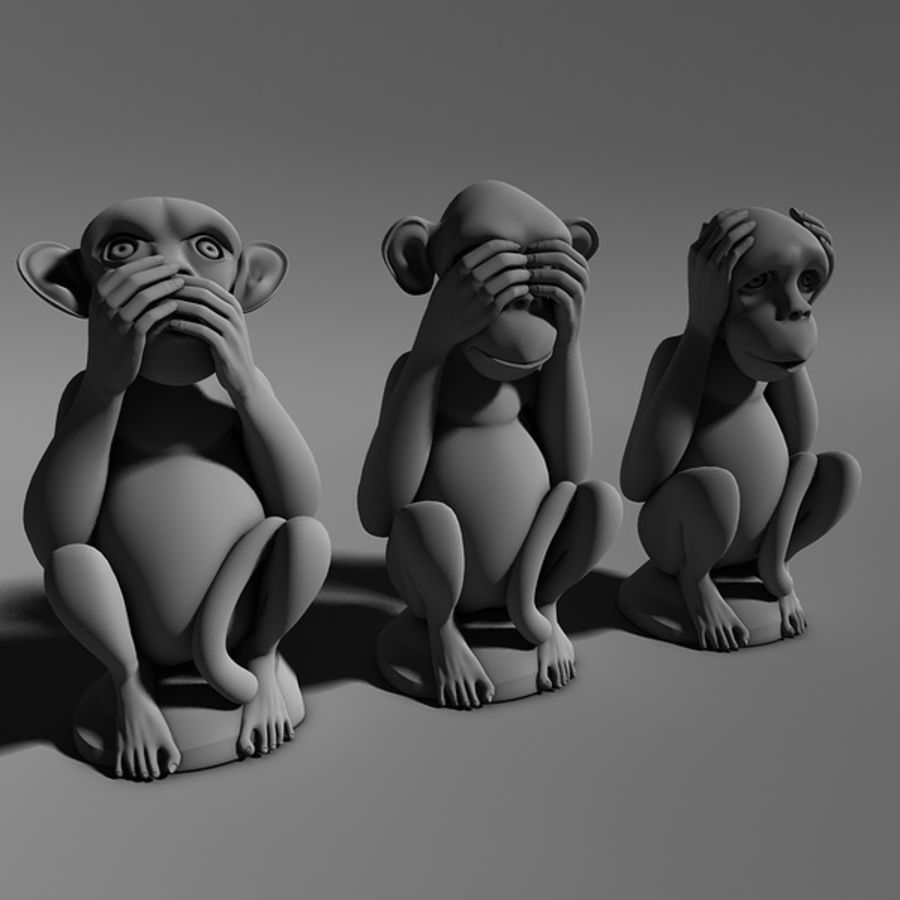 Singes royalty-free 3d model - Preview no. 2