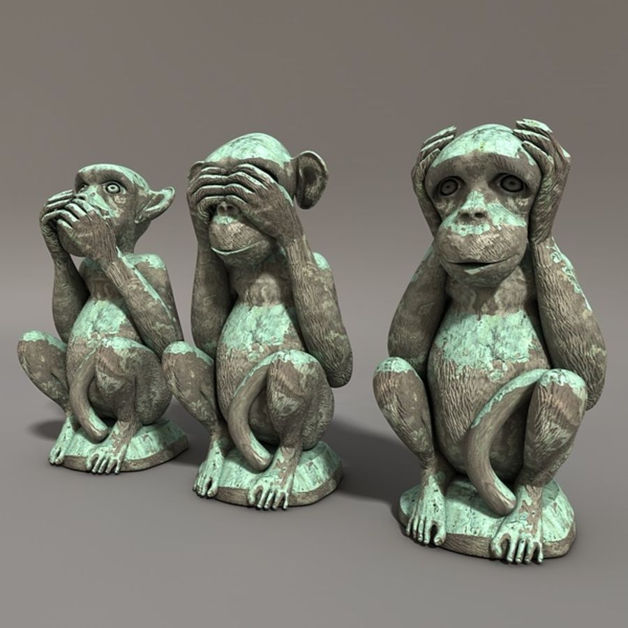 Singes royalty-free 3d model - Preview no. 4