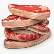 Steak Beef Rib Roasts and Steaks Bone- In 3d model