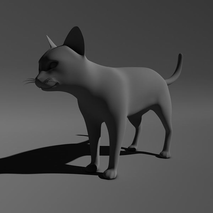 Cat royalty-free 3d model - Preview no. 2