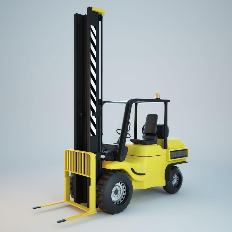Loader Forklift royalty-free 3d model - Preview no. 3