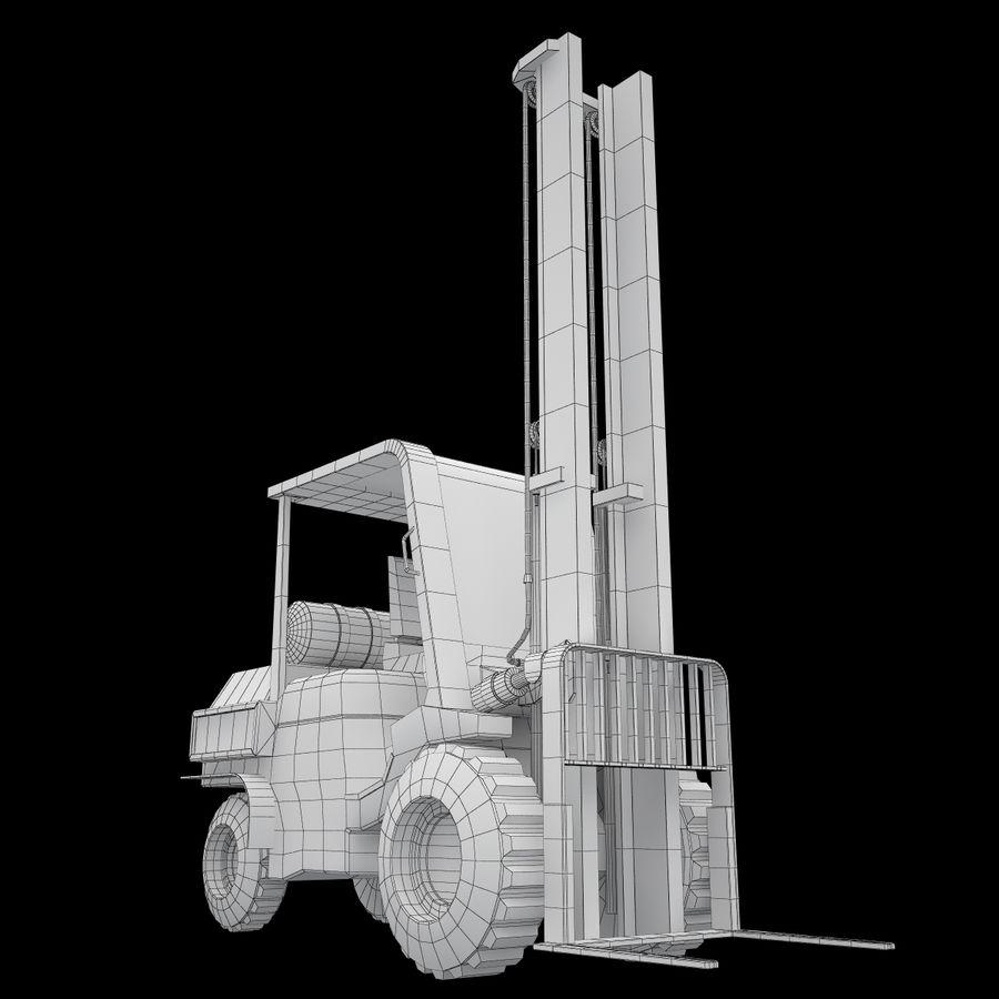 Loader Forklift royalty-free 3d model - Preview no. 16