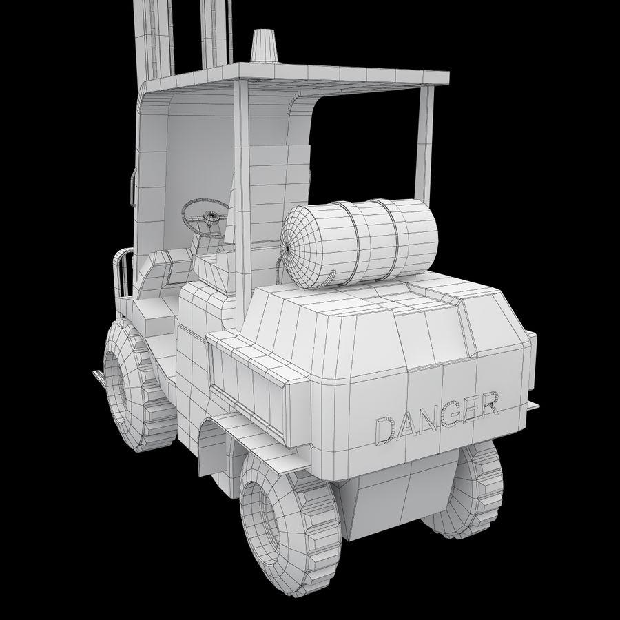 Loader Forklift royalty-free 3d model - Preview no. 13