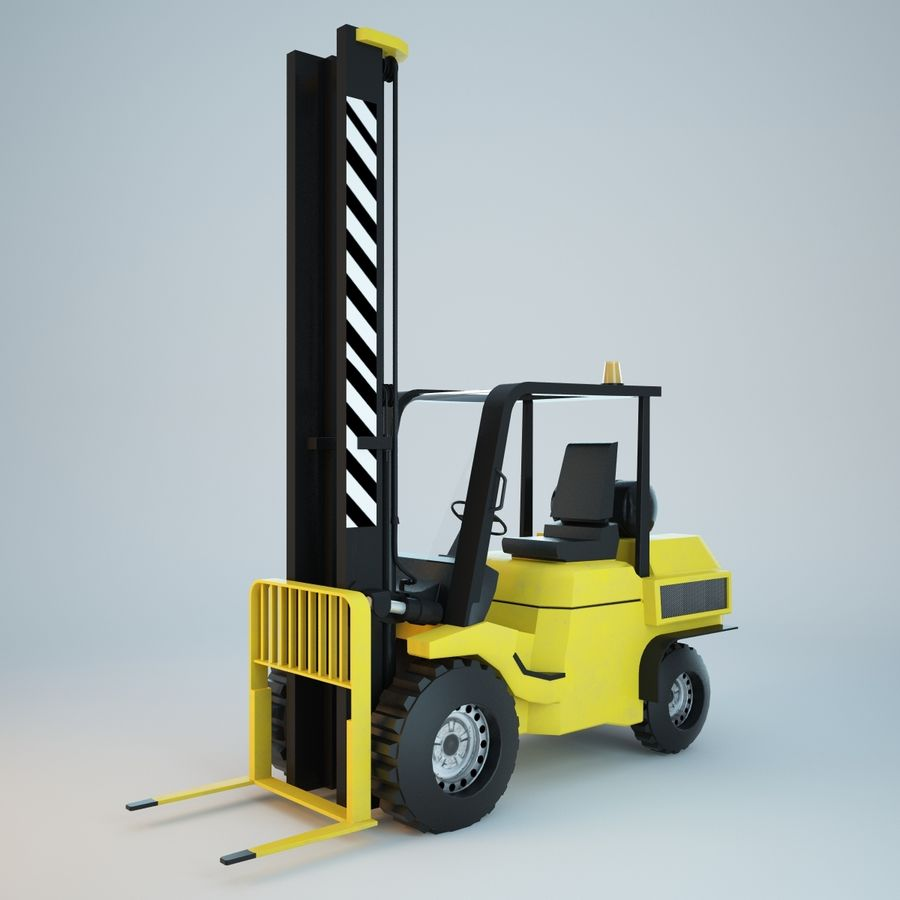 Loader Forklift royalty-free 3d model - Preview no. 2