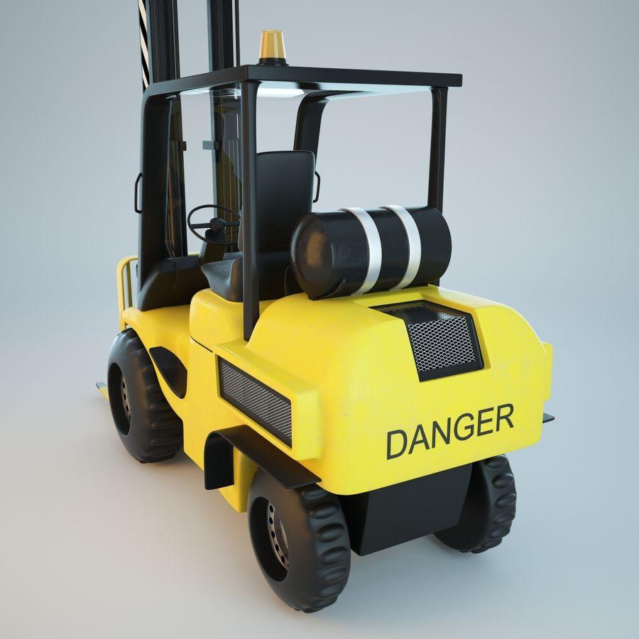 Loader Forklift royalty-free 3d model - Preview no. 6