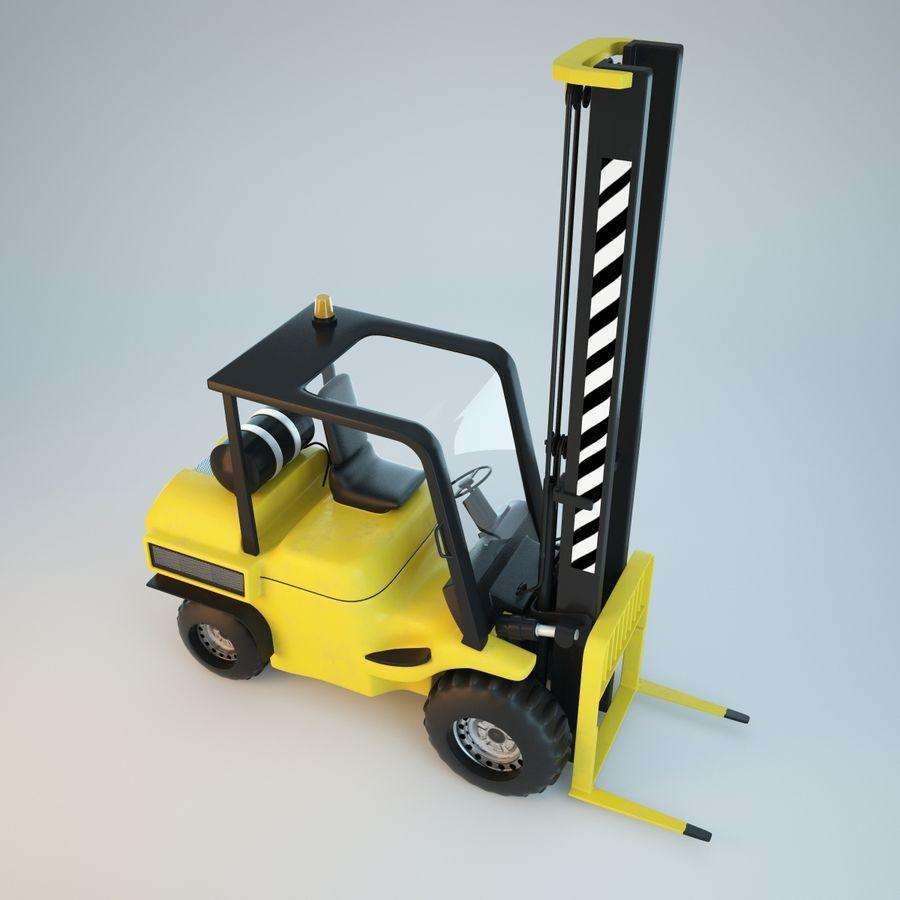 Loader Forklift royalty-free 3d model - Preview no. 5
