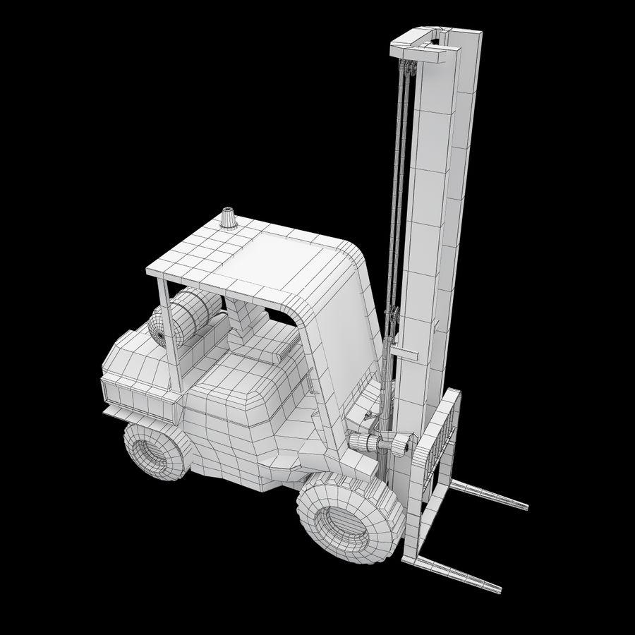 Loader Forklift royalty-free 3d model - Preview no. 12