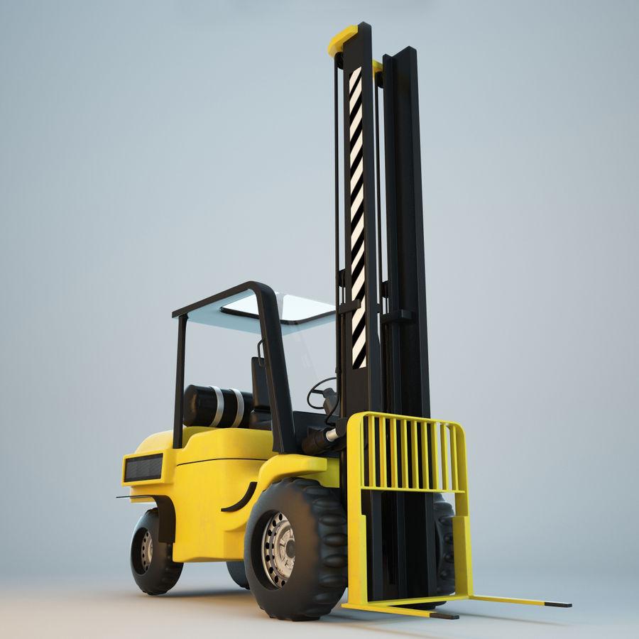 Loader Forklift royalty-free 3d model - Preview no. 9