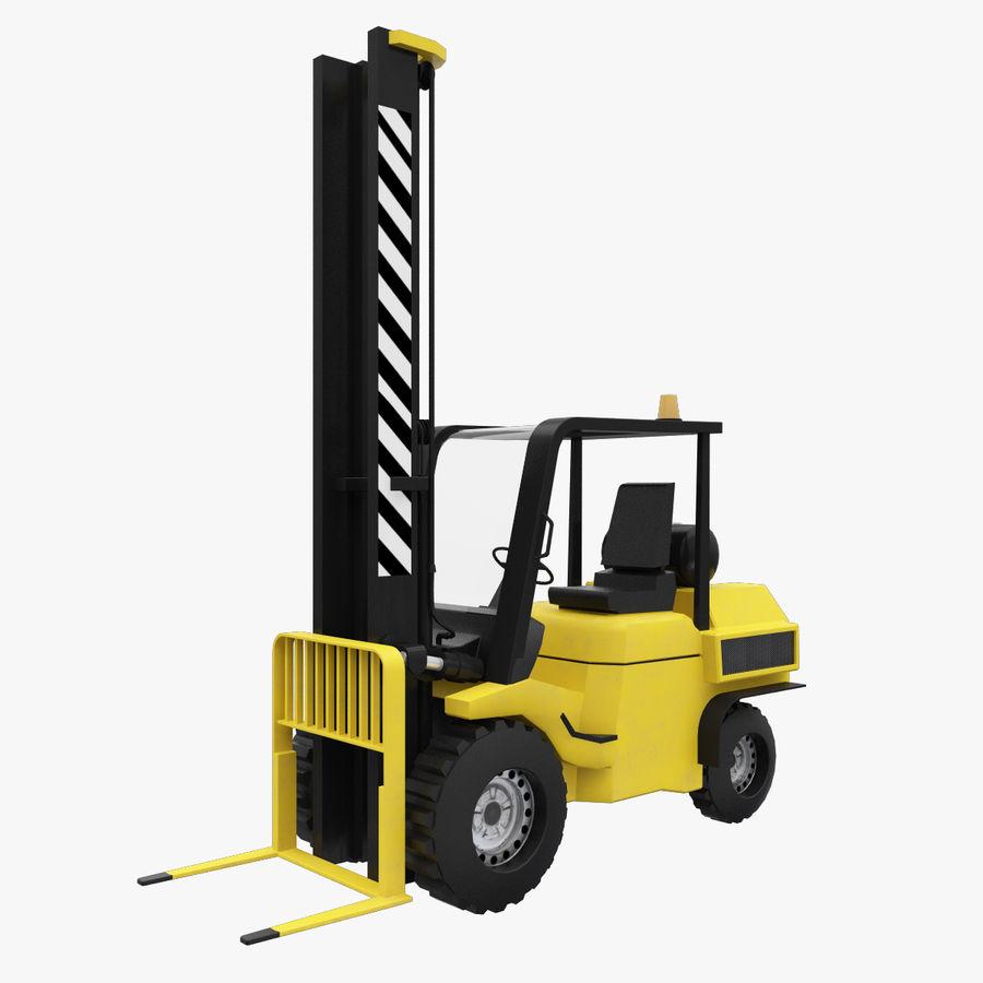 Loader Forklift royalty-free 3d model - Preview no. 1