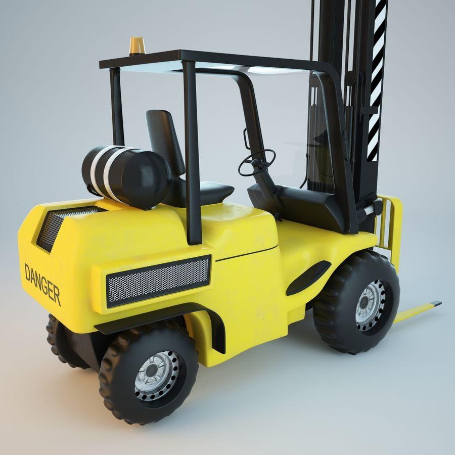 Loader Forklift royalty-free 3d model - Preview no. 8