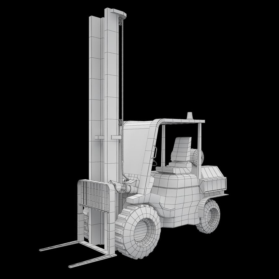 Loader Forklift royalty-free 3d model - Preview no. 10