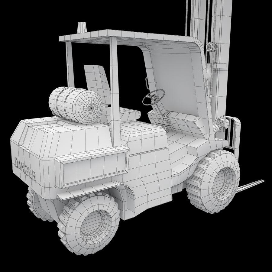 Loader Forklift royalty-free 3d model - Preview no. 15