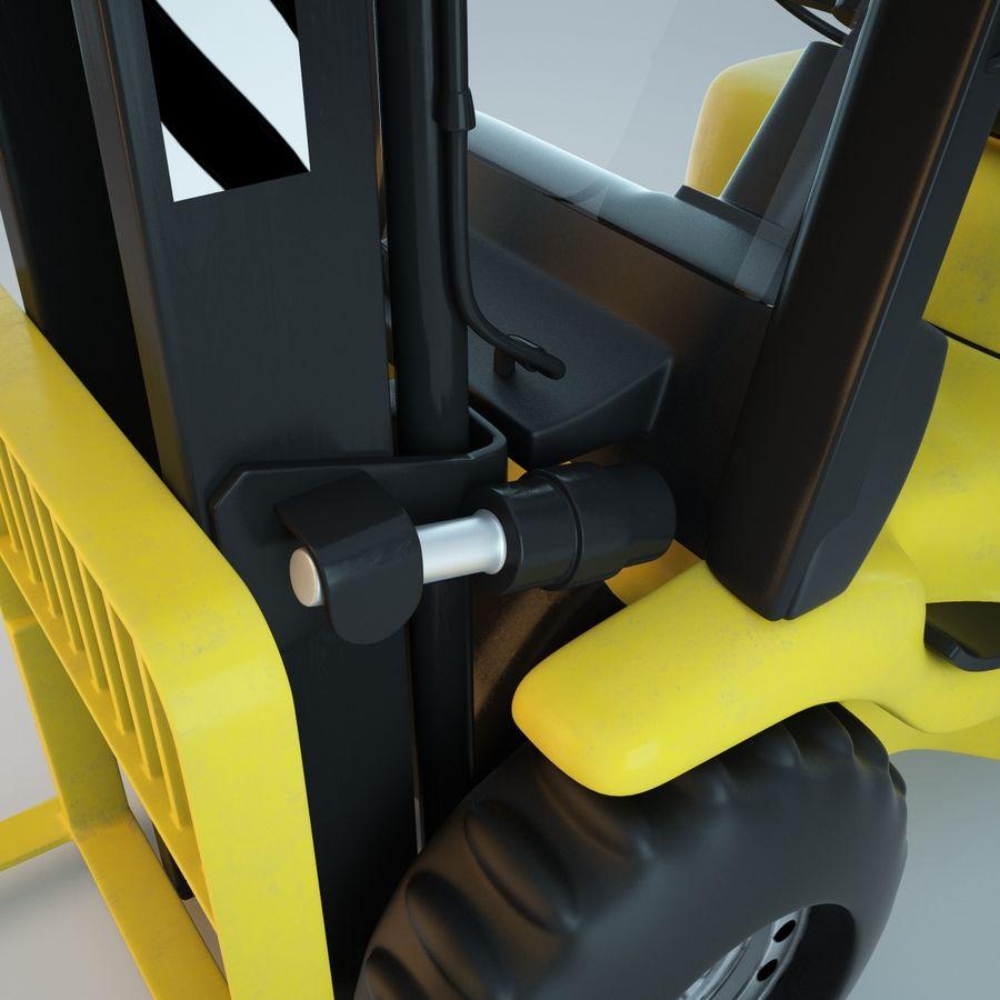 Loader Forklift royalty-free 3d model - Preview no. 4