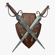 Shield and Swords 3d model