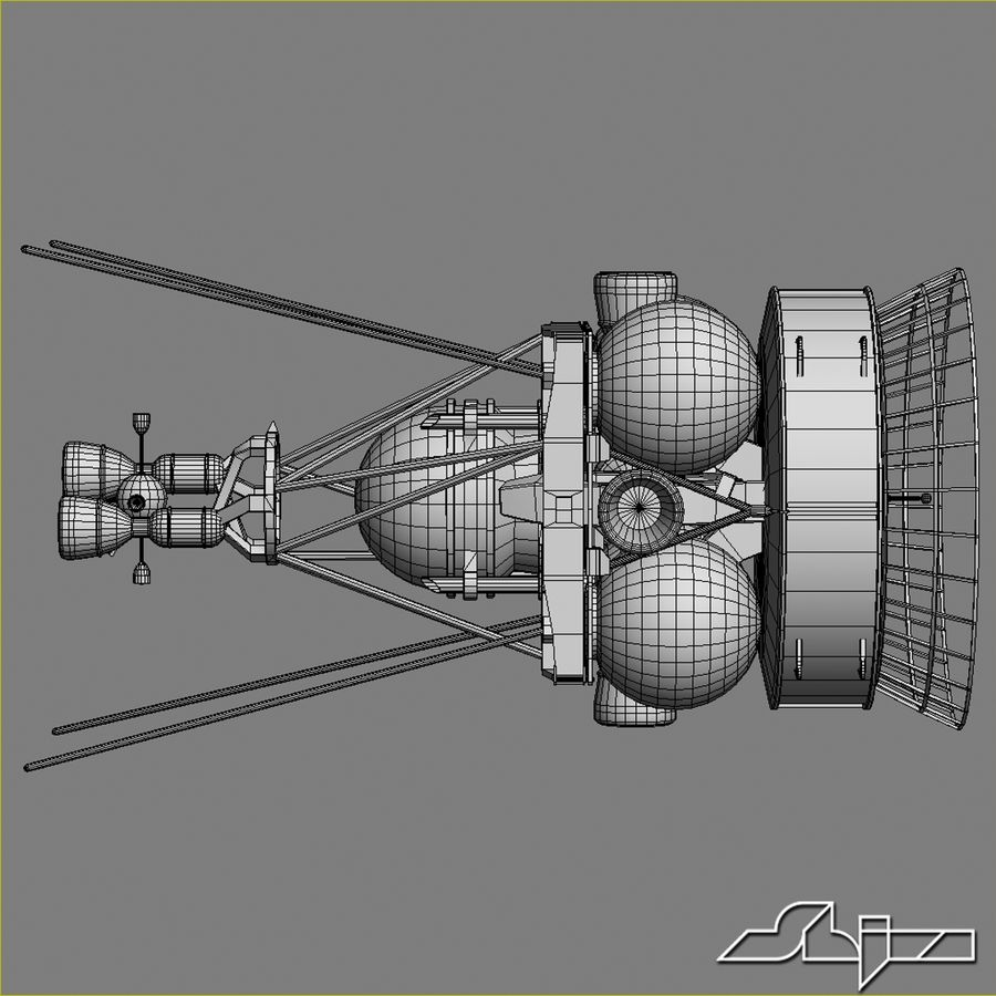 Satellit 4 royalty-free 3d model - Preview no. 8