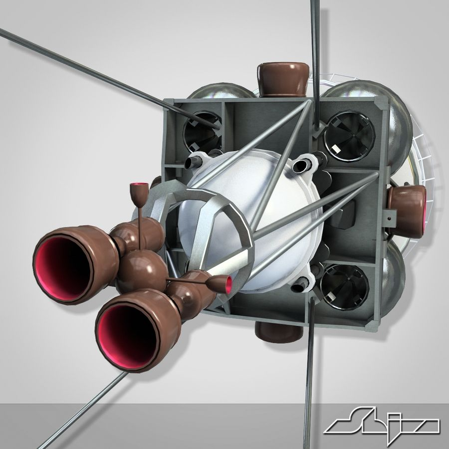 Satellit 4 royalty-free 3d model - Preview no. 7