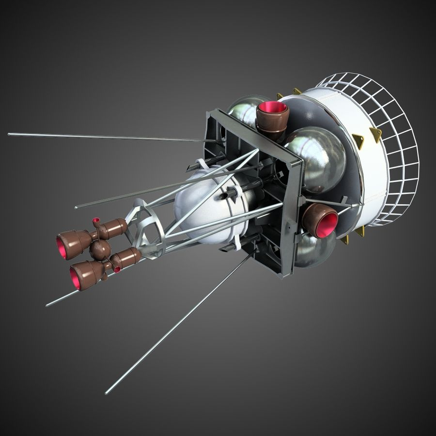 Satellit 4 royalty-free 3d model - Preview no. 2