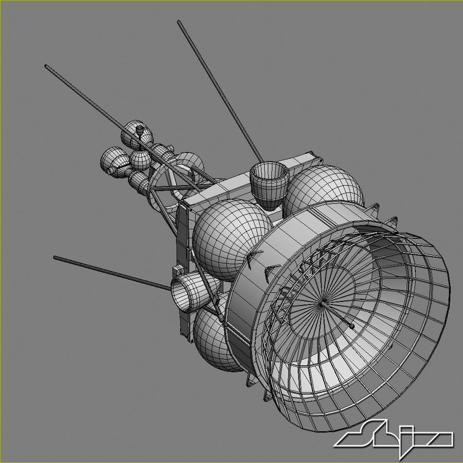 Satellit 4 royalty-free 3d model - Preview no. 9