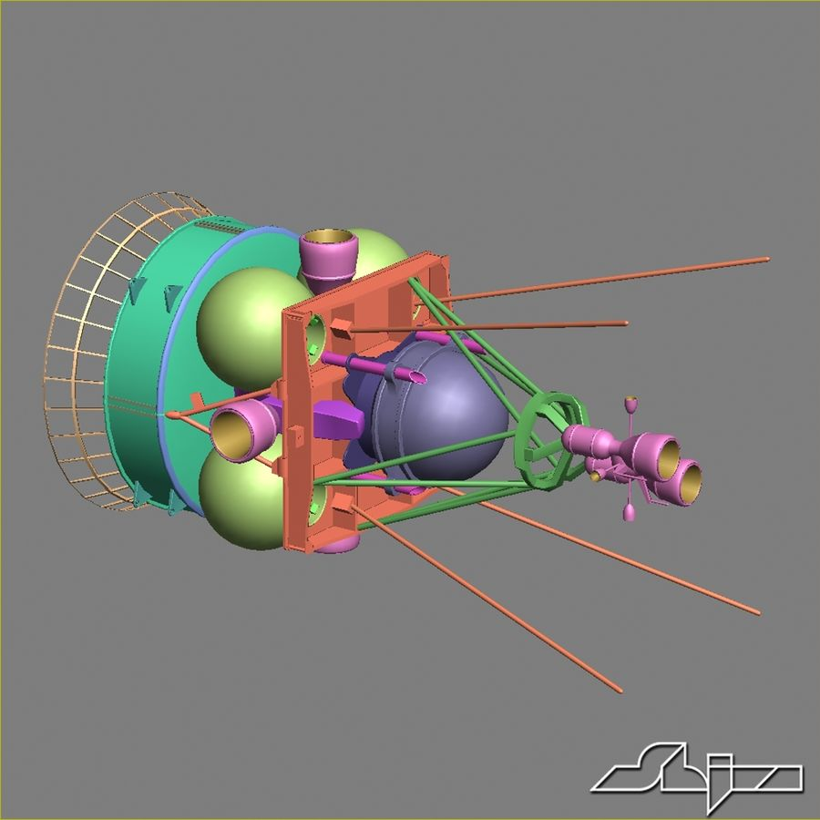 Satellit 4 royalty-free 3d model - Preview no. 11