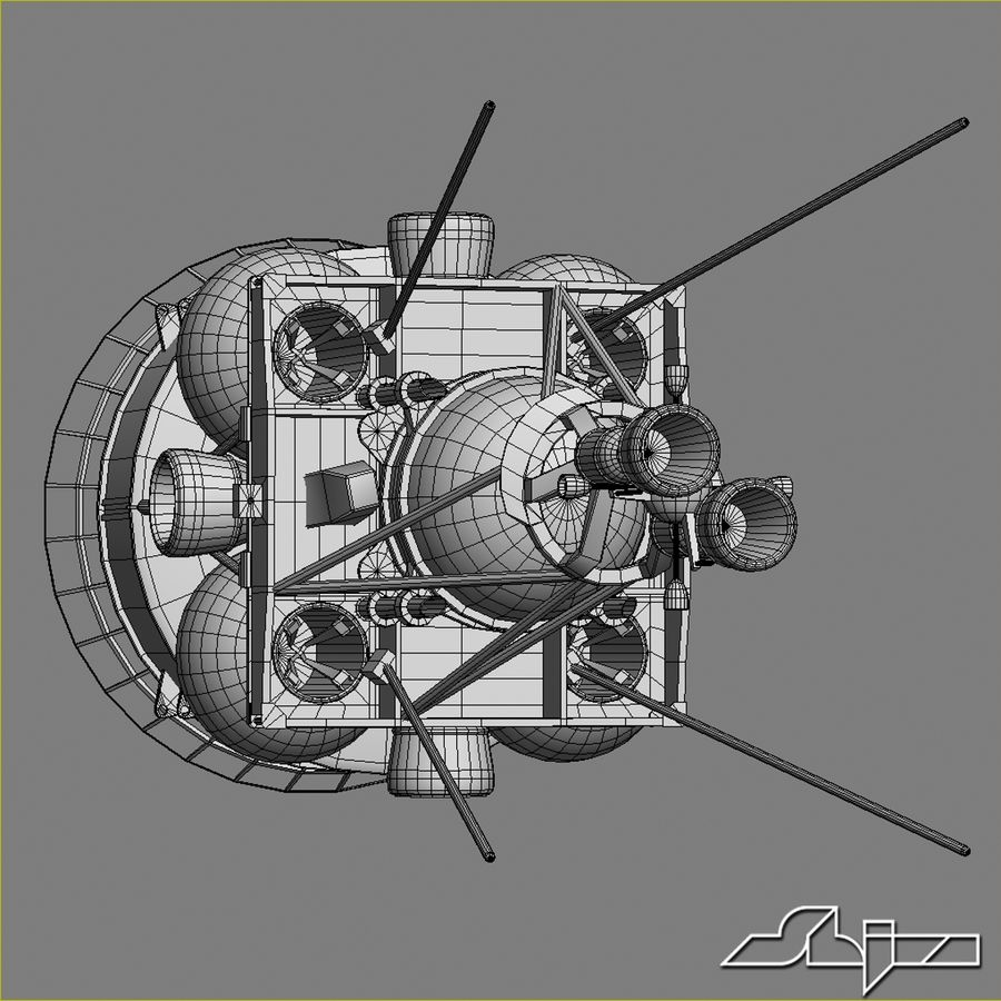 Satellit 4 royalty-free 3d model - Preview no. 10