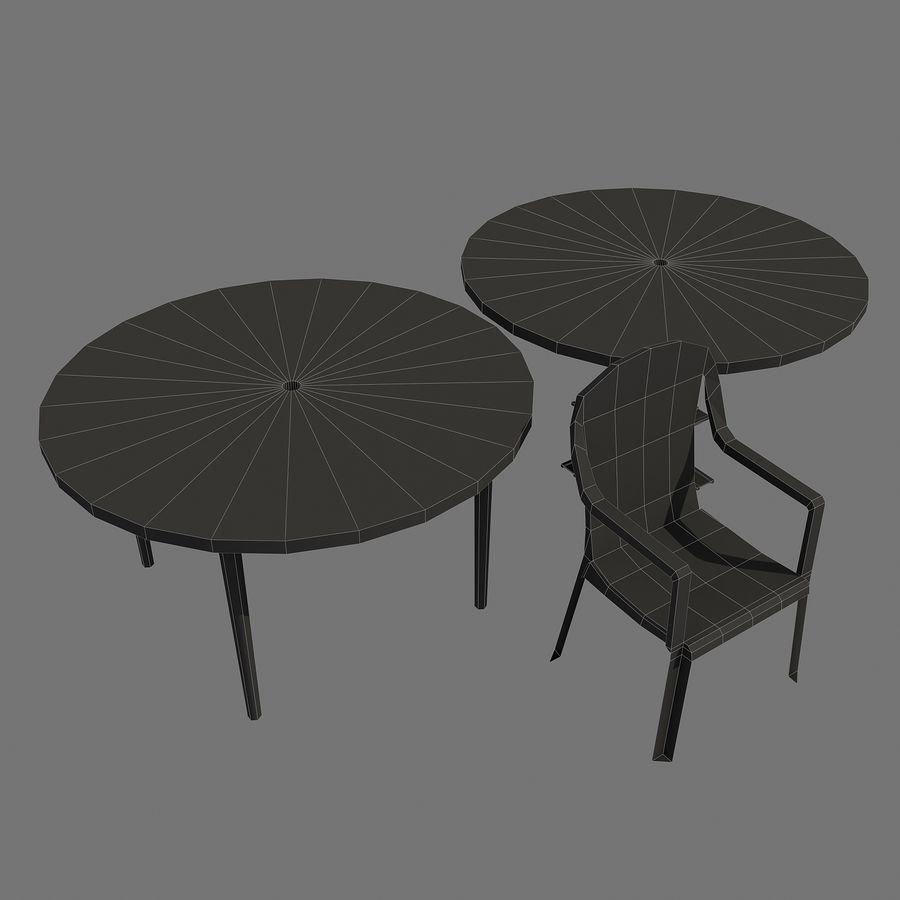 ensemble de table chaise en plastique pour l 39 ext rieur. Black Bedroom Furniture Sets. Home Design Ideas