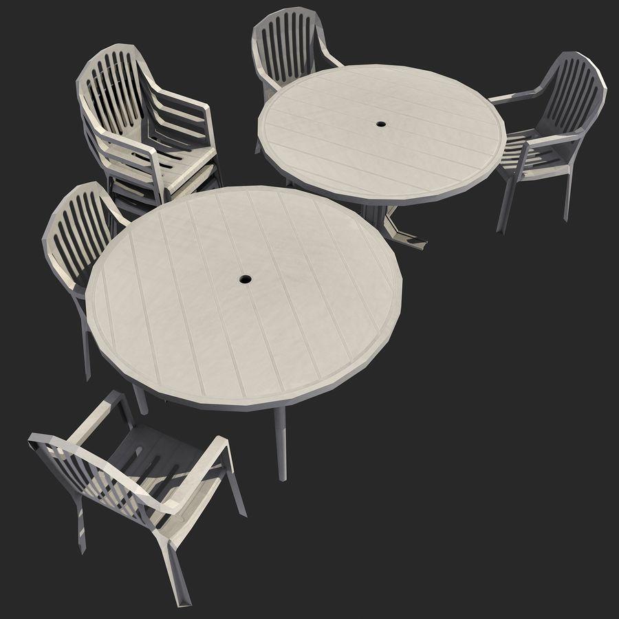 Sedie E Tavoli In Plastica.Set Di Sedie E Tavoli In Plastica Per Esterni 01 Modello 3d 29