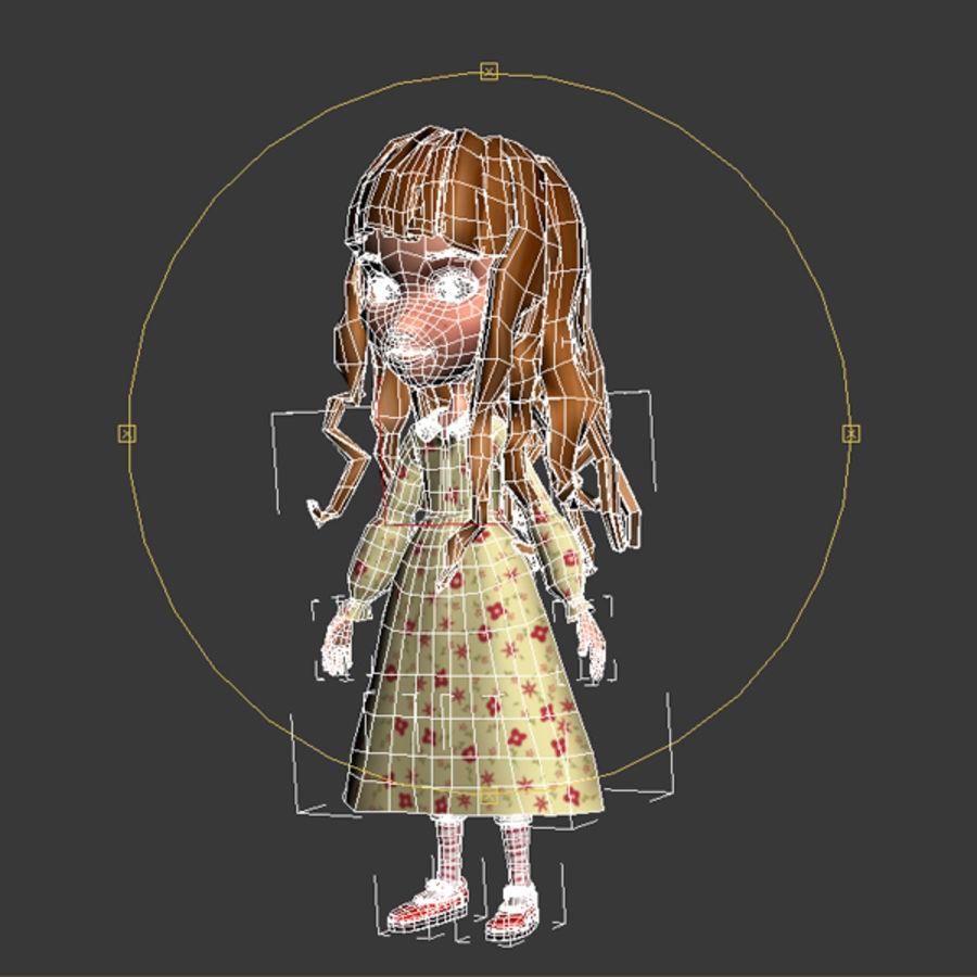 cartoon girl royalty-free 3d model - Preview no. 10