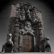 Porte de l'enfer 3d model