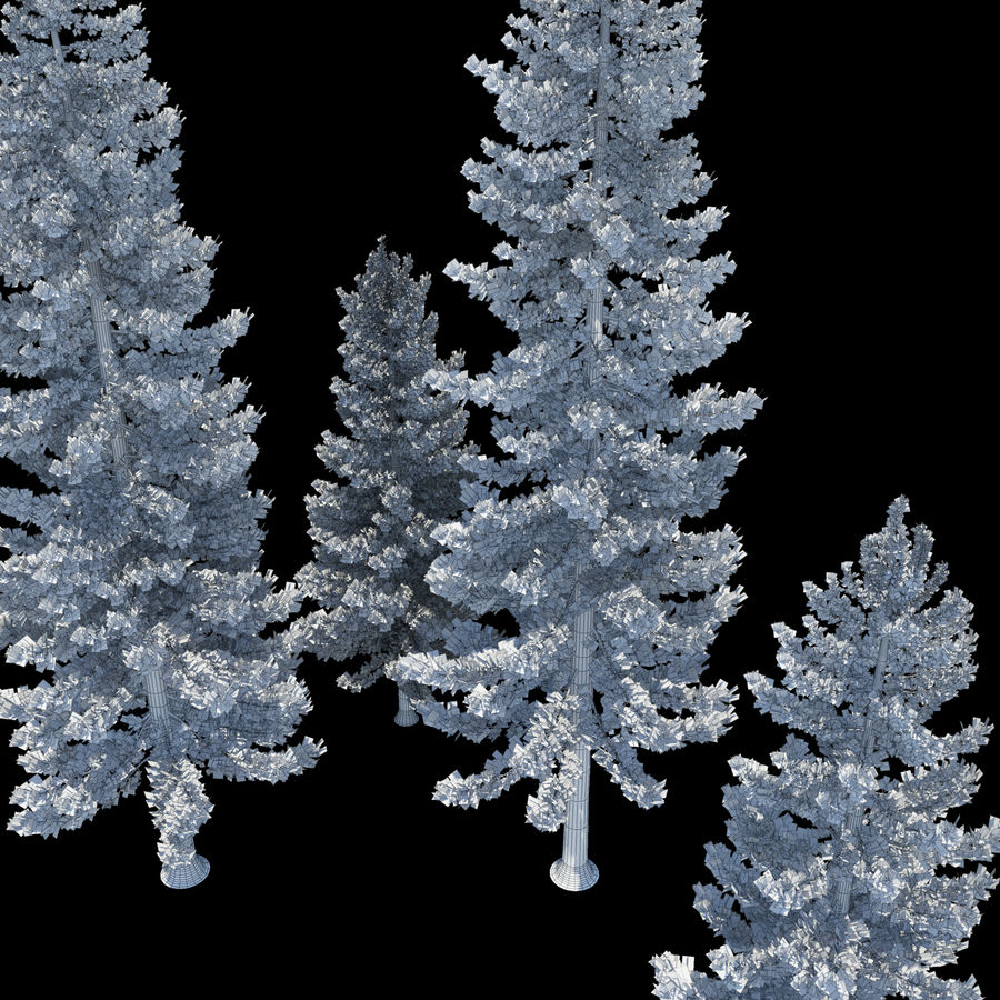 Pine Trees royalty-free 3d model - Preview no. 9