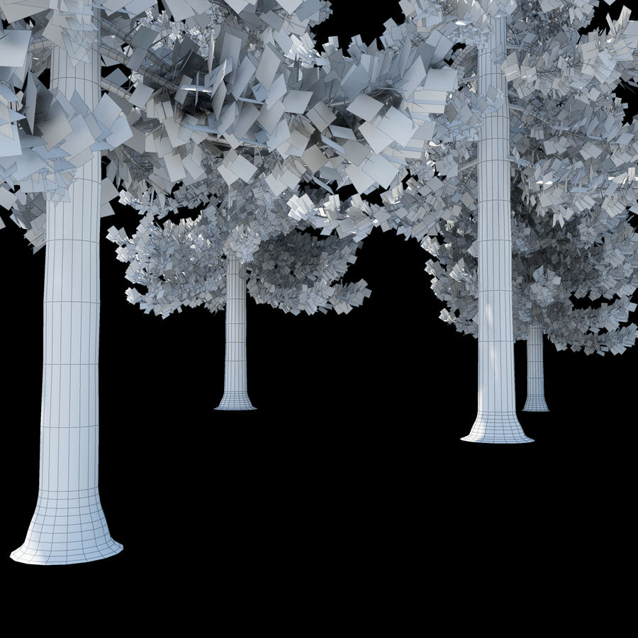 Pine Trees royalty-free 3d model - Preview no. 17