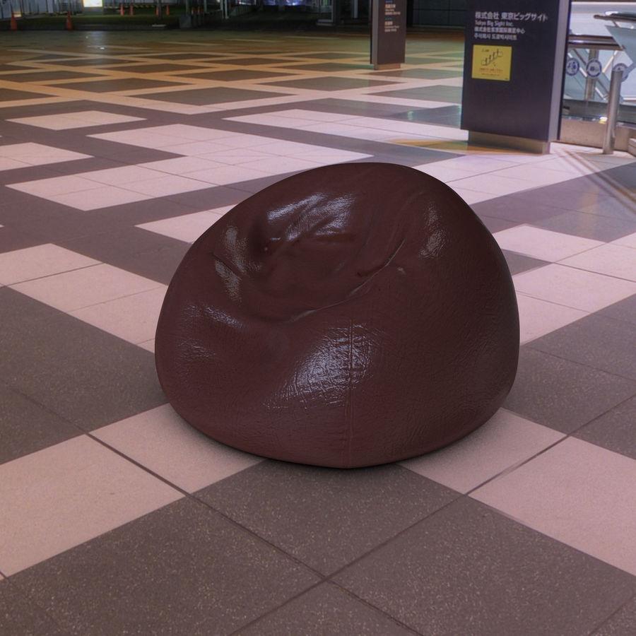 Bean Bag Chair royalty-free 3d model - Preview no. 5