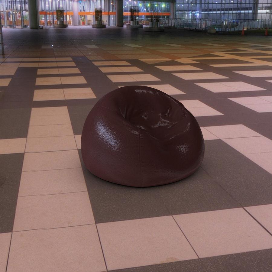 Bean Bag Chair royalty-free 3d model - Preview no. 6