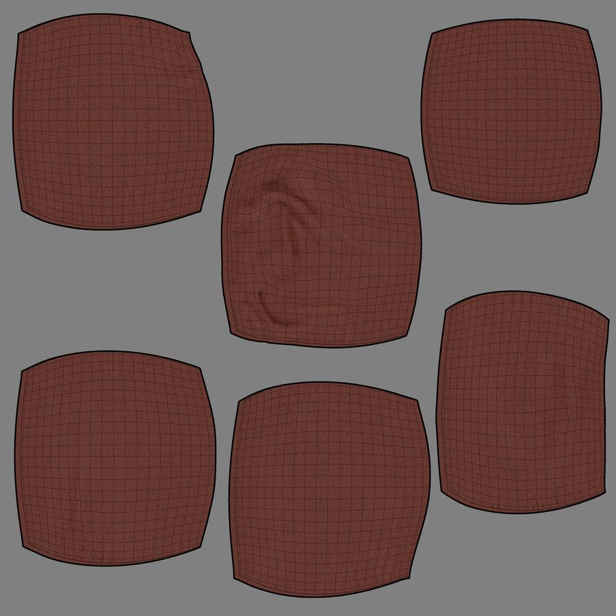 Bean Bag Chair royalty-free 3d model - Preview no. 7